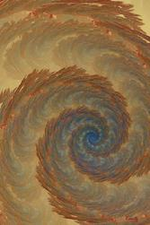 "Giclee print, brown spiral art, ""Dusty Tempest"" by Kinnally"