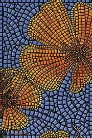 "View Mosaic Gallery; giclee print ""California Poppy"" by Kinnally"
