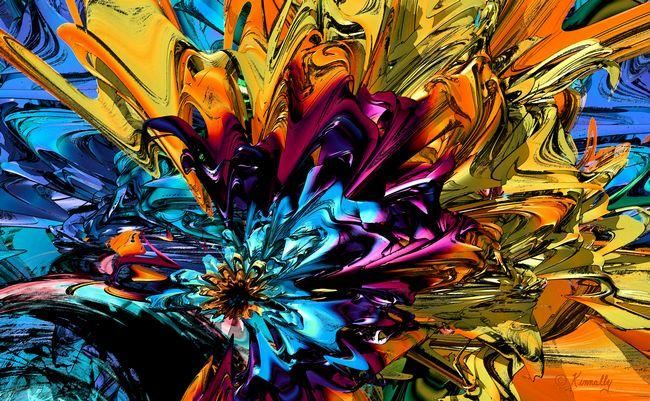 "artwork titled ""A Little Splash of Color"""