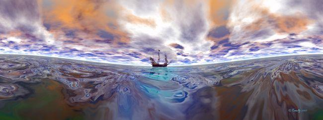 "Giclee print, canvas or fine art paper - ""The Golden Hind"" by Kinnally"